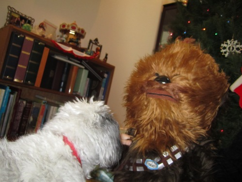 Nala meets Chewbacca