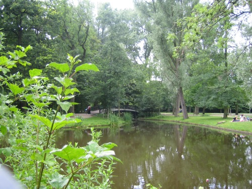 The park in Amsterdam. I neglected to take a photo of my dubious hostel.