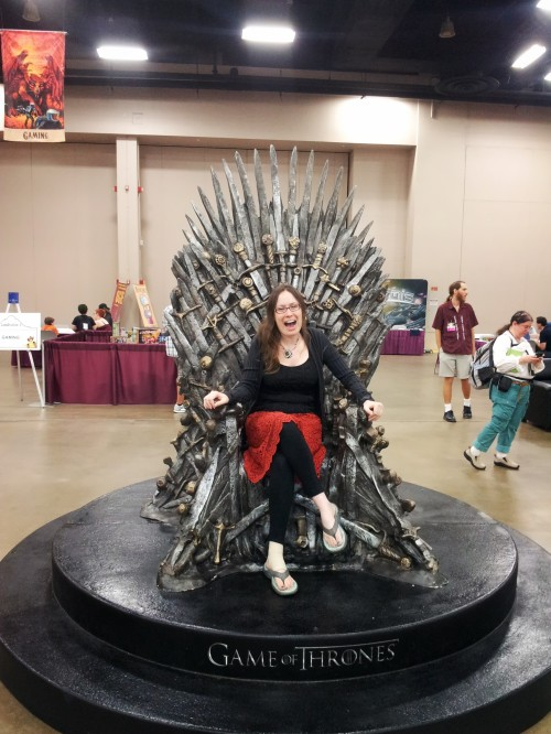 In which I ultimately can't resist and take my turn on the Iron Throne.