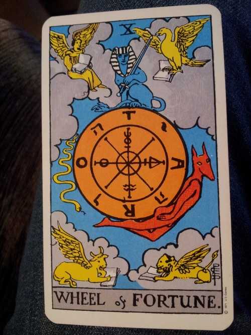 My central card: The Wheel of Fortune