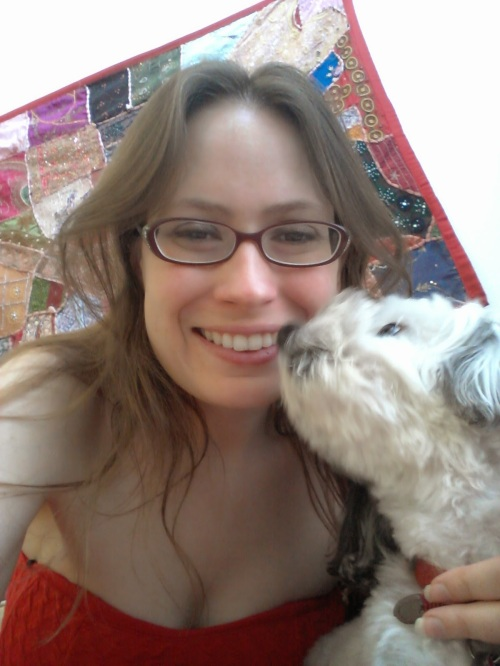 I was going to post a photo with human friends, but then I didn't want to leave anybody out, so here is me with my best dog friend instead.