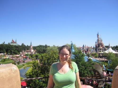 I can't find a photo of me at Disneyland, but here, have a photo of me at Disneyland Paris instead.
